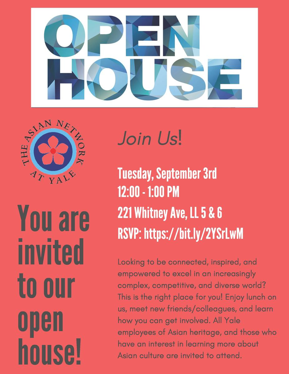 Annual Open House Meeting | Asian Network @ Yale
